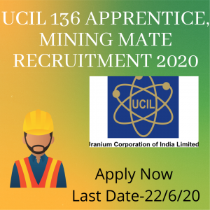 UCIL Recruitment Online form 2020